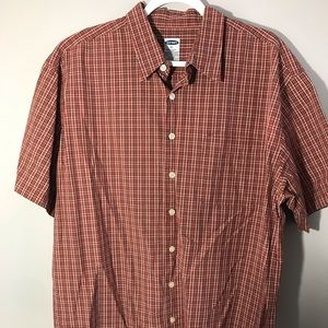Old Navy Red Plaid Button up. Size XL.